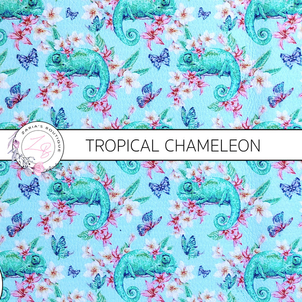 Tropical Chameleon ~ Custom Faux Leather ~ 1mm
