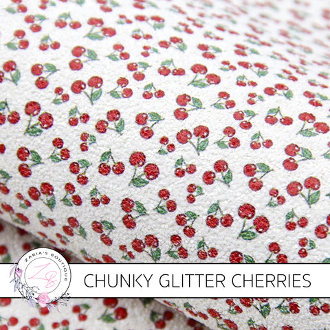 Chunky Glitter Cherries ~ 1.03mm