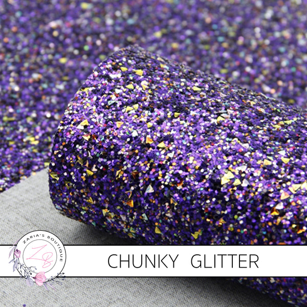 Chunky Glitter ~ Royal Purple Gold Sprinkle ~ 1.2mm