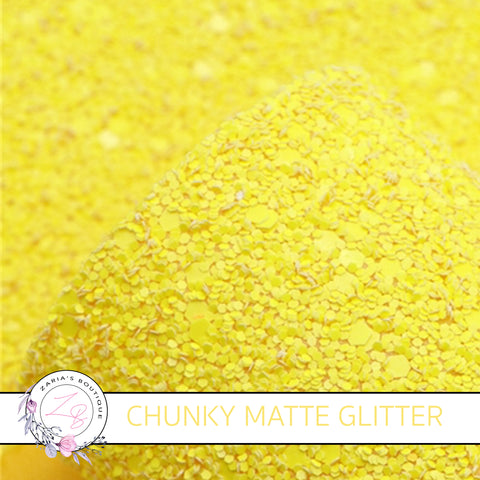 Bright Yellow ~ Matte Chunky Glitter ~ 1.5mm