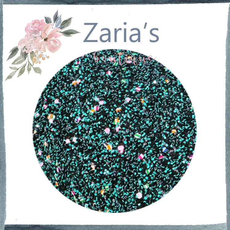 Dark Emerald Green Confetti ~ Chunky Glitter Faux Leather Fabric Sheets