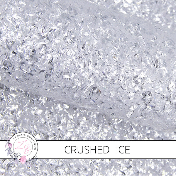 Crushed Ice ~ Snow White  Chunky Glitter ~ 1.14mm