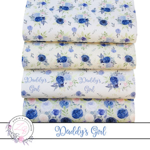 EXCLUSIVE Daddy's Girl Floral Vegan Faux Leather ~ Single Sheets & Multi-Packs