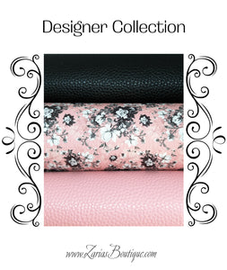 Designer Collection ~ Chic Rose Floral Faux Leather