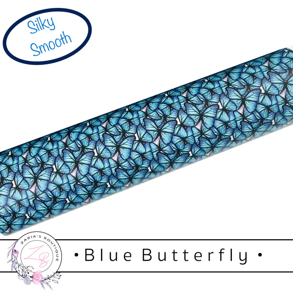 • Blue Butterfly • Smooth Vegan Faux Leather