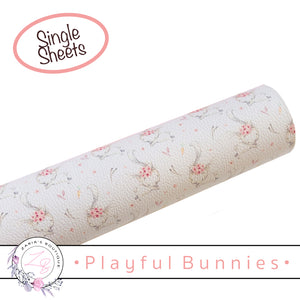 Playful Bunnies Easter • Vegan Faux Leather