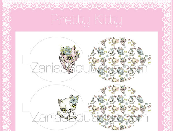 Pretty Kitty Bows ~ Custom Printed Canvas Sheets ~ Bow Making