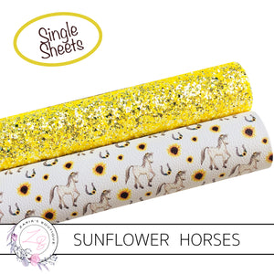 Rustic Sunflower Horse • Vegan Faux Leather • Exclusive
