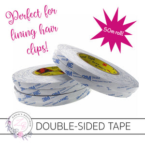 Double-Sided Tape ~ 50 Metres ~ Used to line Hair Clips