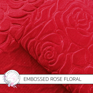 Embossed Red Floral  ~ 0.90mm