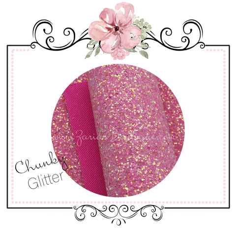 Fairy Dust Pretty In Rose Pink ~ Glitter Canvas Craft Fabric Sheets