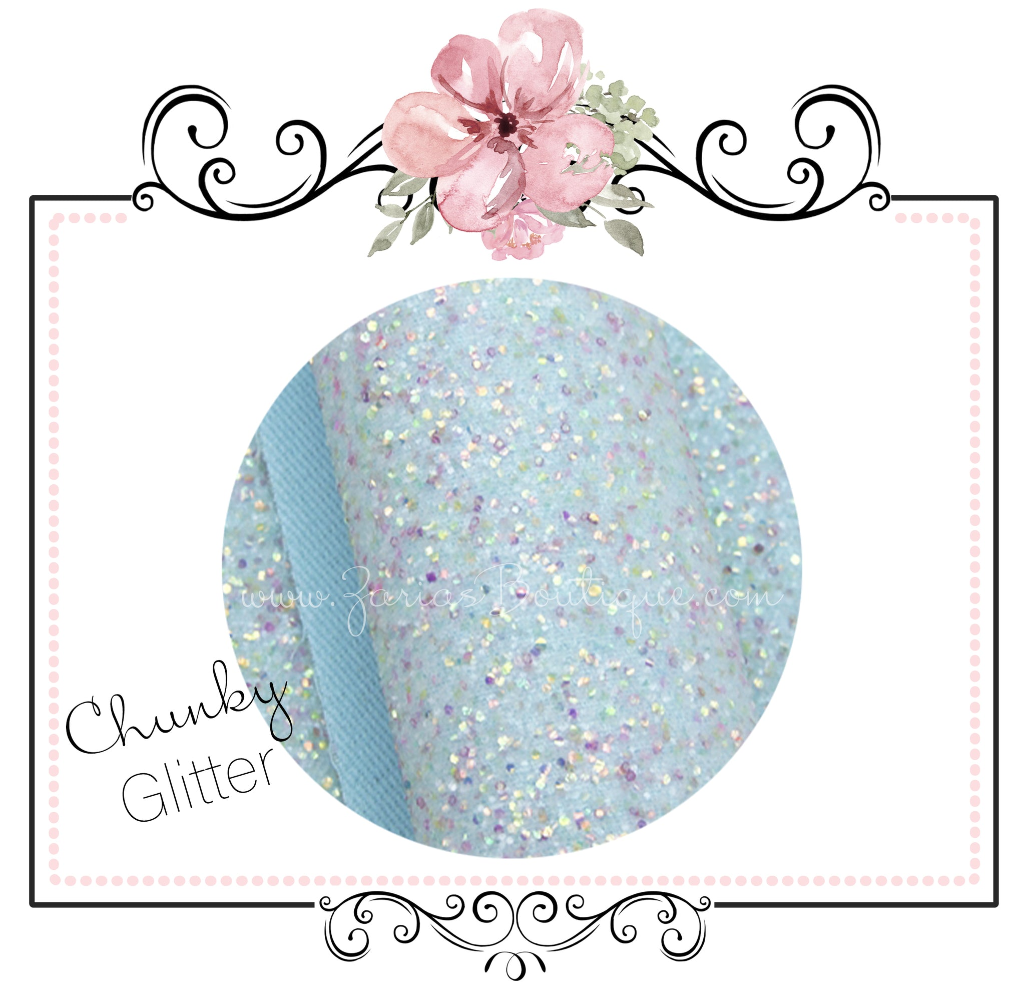 Fairy Dust Pretty In Blue ~ Glitter Canvas Craft Fabric Sheets