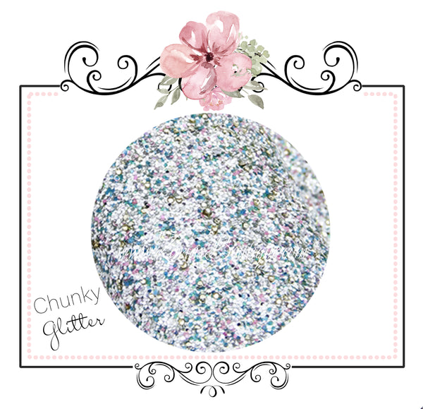 Fairytale Blue Lake ~ Glitter Canvas Craft Fabric Sheets ~ 0.95mm