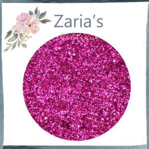 Fantasy ~ Hot Pink ~ Medium Glitter Faux Leather Fabric Sheets