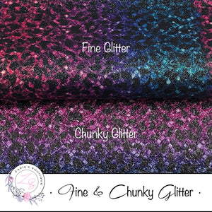 Fine & Chunky Glitter ~ Multi-Colour Black Spots