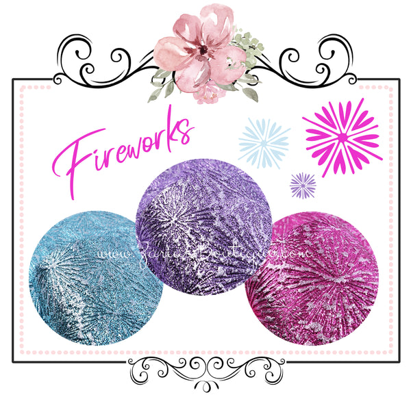 Fireworks!  ~ Textured Metallic Faux Leather ~ Pink Purple Blue Leatherette Sheets
