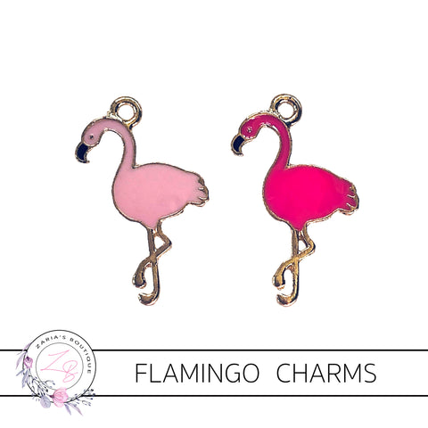 Flamingo Charms  ~ Quality Enamel/Metal Embellishments ~ Hot Pink or Pink