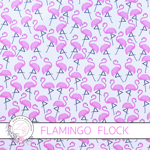 Flamingo Flock ~  Pink Bird Vegan Faux Leather