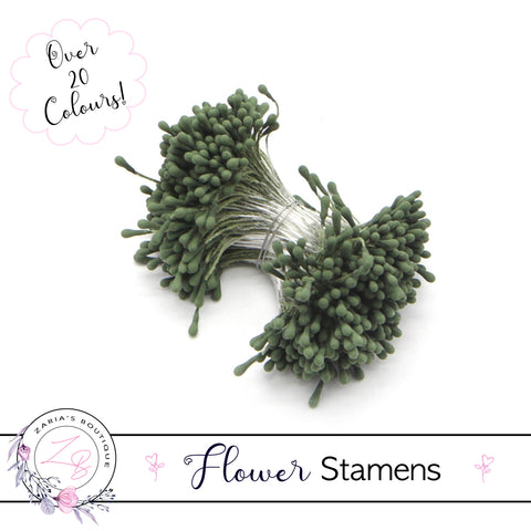 Flower Stamens ⋅ Dark Green ⋅