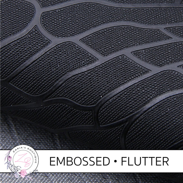 Embossed Flutter Wing • Black Textured Craft Fabric