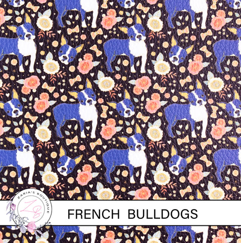 French Bulldog ~ Faux Leather ~ 1mm