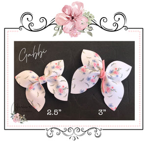"Gabbi Bow Die ~ Two Sizes Available ~ 2.5 & 3"" OR 3.5 & 4"""