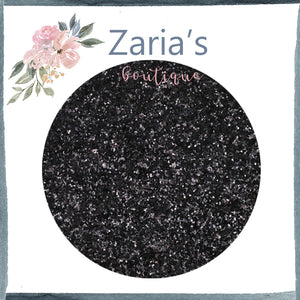 Galaxy Black ~ Medium Glitter Faux Leather Fabric Sheets