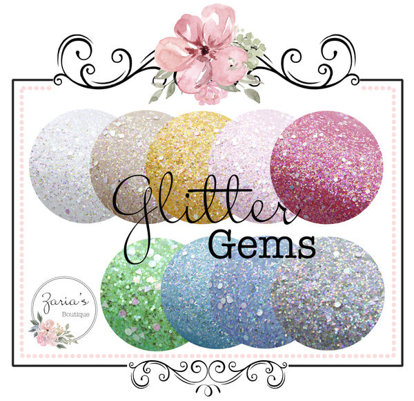 Glitter Gem Collection ~ 9 Colours ~ 1mm