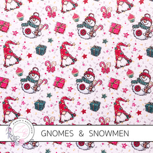 Christmas Gnomes & Snowmen ~ White ~ Faux Leather