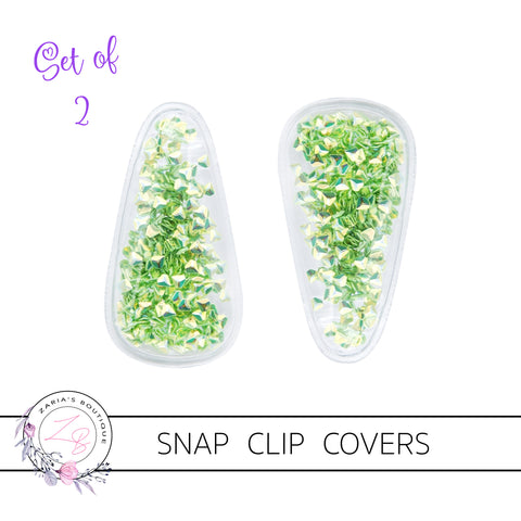 Shaker Snap Clip Covers - Green Diamonds - Pack of 2