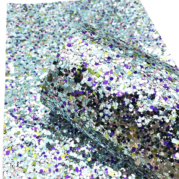 CHUNKY GLITTER ~ Green Aqua Black Silver Purple Sprinkle