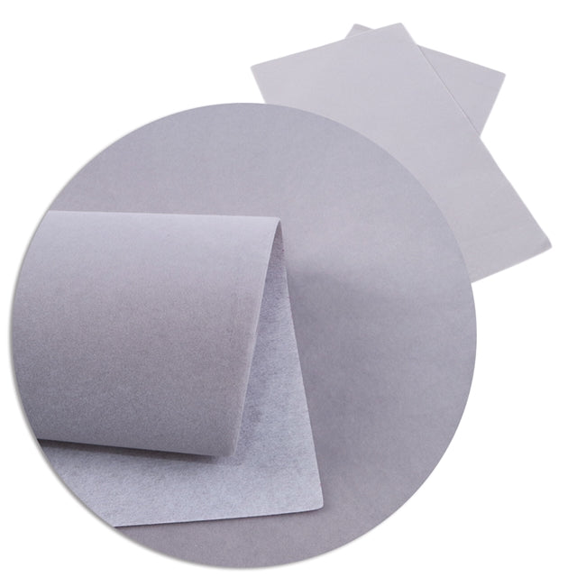 Velvet Faux Leather Sheets ~ Grey