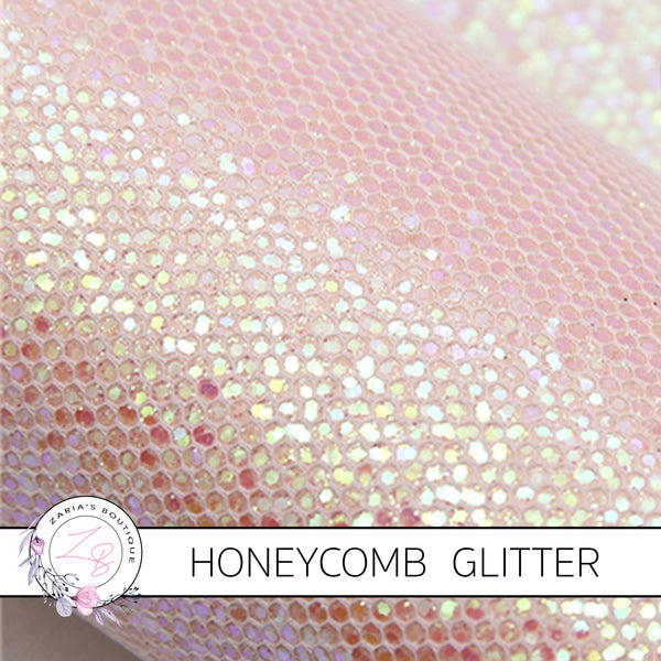 Honeycomb Glitter Canvas Craft Fabric Sheets ~ 0.53mm ~ 7 Colours