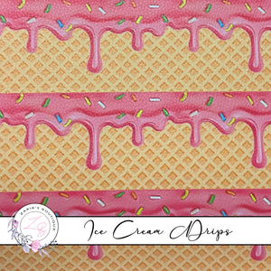 Sprinkled Ice Cream Drips ~ Faux Leather