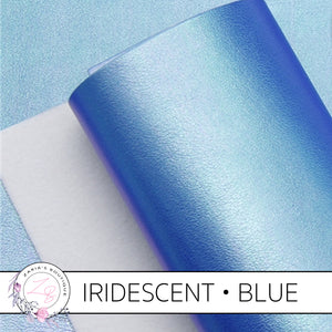 Iridescent Faux Leather • Blue Pearl AB