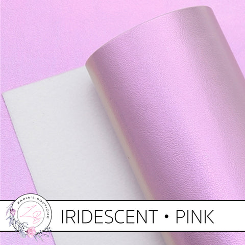 Iridescent Faux Leather • Pink Pearl AB