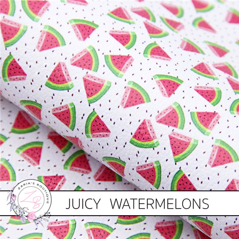 Juicy Watermelon Luxe Grain Faux Leather