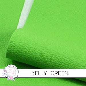 Pebble Grain Faux Leather | Kelly Green