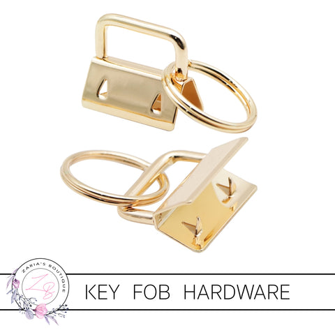 Key Fob Keyring Clip Hardware ~ Gold 25mm ~ 5 pieces