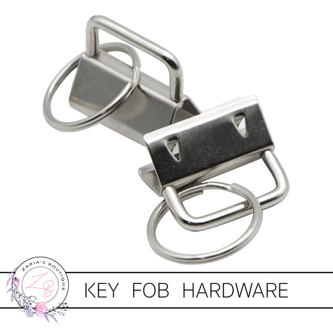 Key Fob Keyring Clip Hardware ~ Silver 25mm ~ 5 pieces