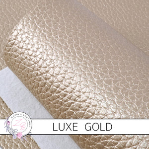 Gold Pebble Grain Faux Leather Craft Fabric Sheets