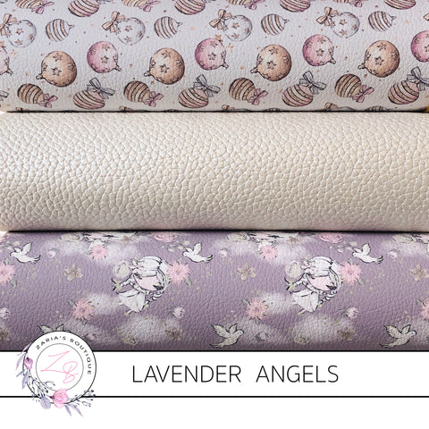 Christmas Lavender Angels & Baubles Faux Leather Designer Multi-Pack