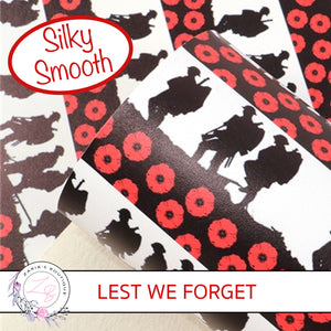 Red Poppy Soldier • Smooth Floral Faux Leather • Remembrance