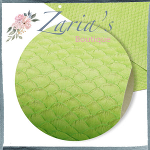 Textured Lime Green Mermaid Tails