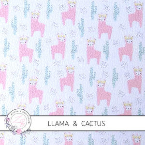 Llama & Catus ~ Custom Faux Leather ~ 1mm