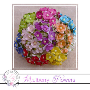 Mulberry Flowers ~ Sweetheart Blossom ~ Mixed Colours ~ 15mm