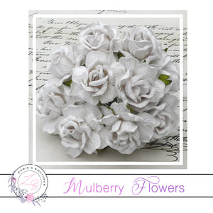 Mulberry Paper Flowers ~ Wild Rose ~ 40mm ~ White