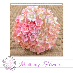 Mulberry Flowers ~ Sweetheart Blossom ~ Mixed Pinks ~ 15mm