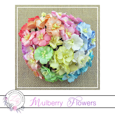 Mulberry Paper Flowers ~ Apple Blossoms ~ 20-25mm