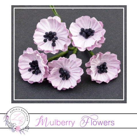 Mulberry Paper Flowers ~ Pink Poppy ~ 20mm